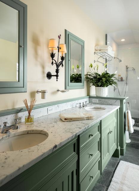 Narrow Bath - Farmhouse - Bathroom - new york - by Crisp ...