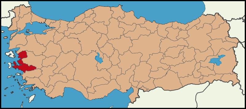 خريطة ازمير