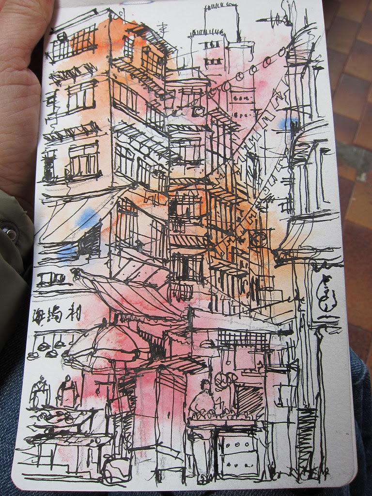 Peel Street sketch, HK