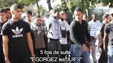 Aux champs Elysées en 2012, la police n'est même pas intervenue contre les musulmans hurlant leur haine des Juifs