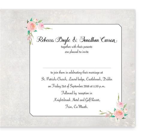 Floral Beauty Folding Wedding Invite   Loving Invitations