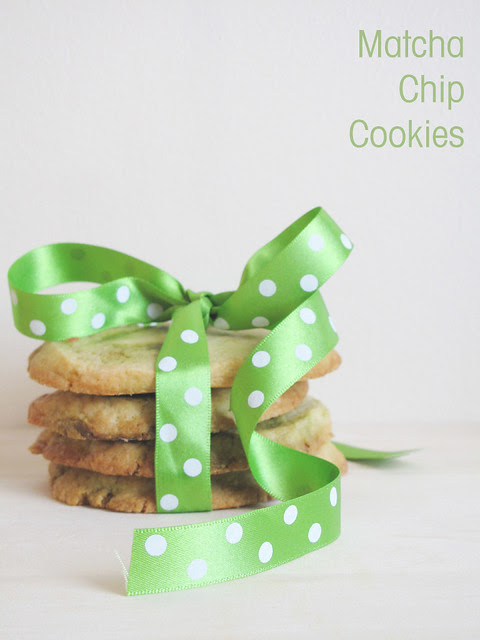 Matcha Chip Cookies