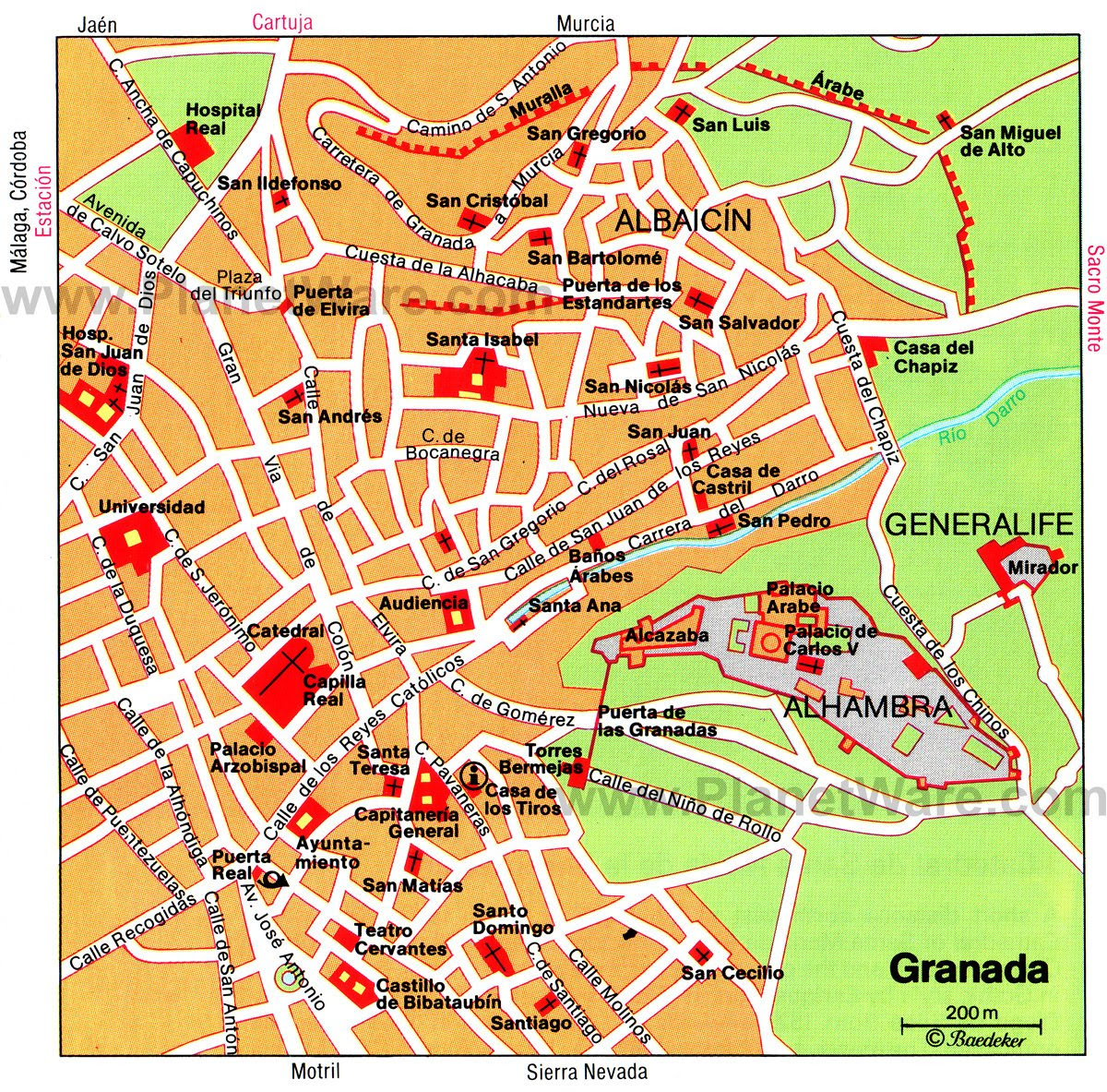 granada térkép MAP OF GRANADA ~ Usa Map Guide 2016