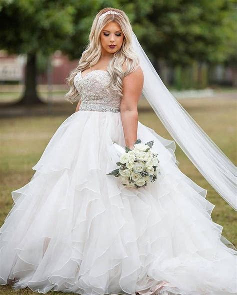 Strapless empire waist plus size wedding gowns   Plus Size