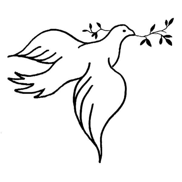 Disegno Di Colomba Della Pace Da Colorare Per Bambini