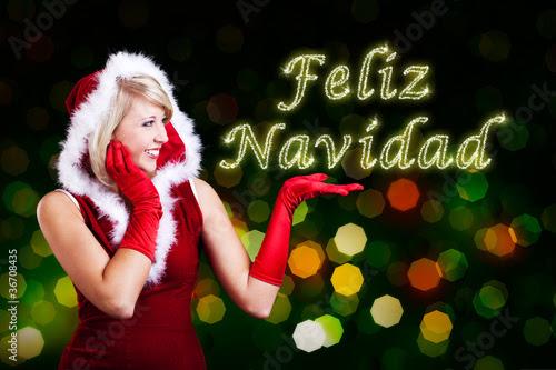 miss santa showing feliz navidad 08 fotogestoeber #36708435