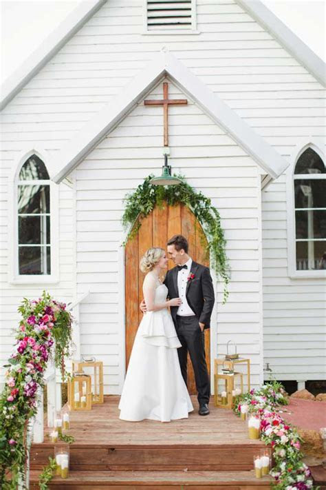 Australian Country Church Wedding Inspiration   Polka Dot