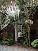 Lauren in front of the Front Street Inn