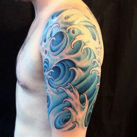 water tattoos  men masculine liquid designs