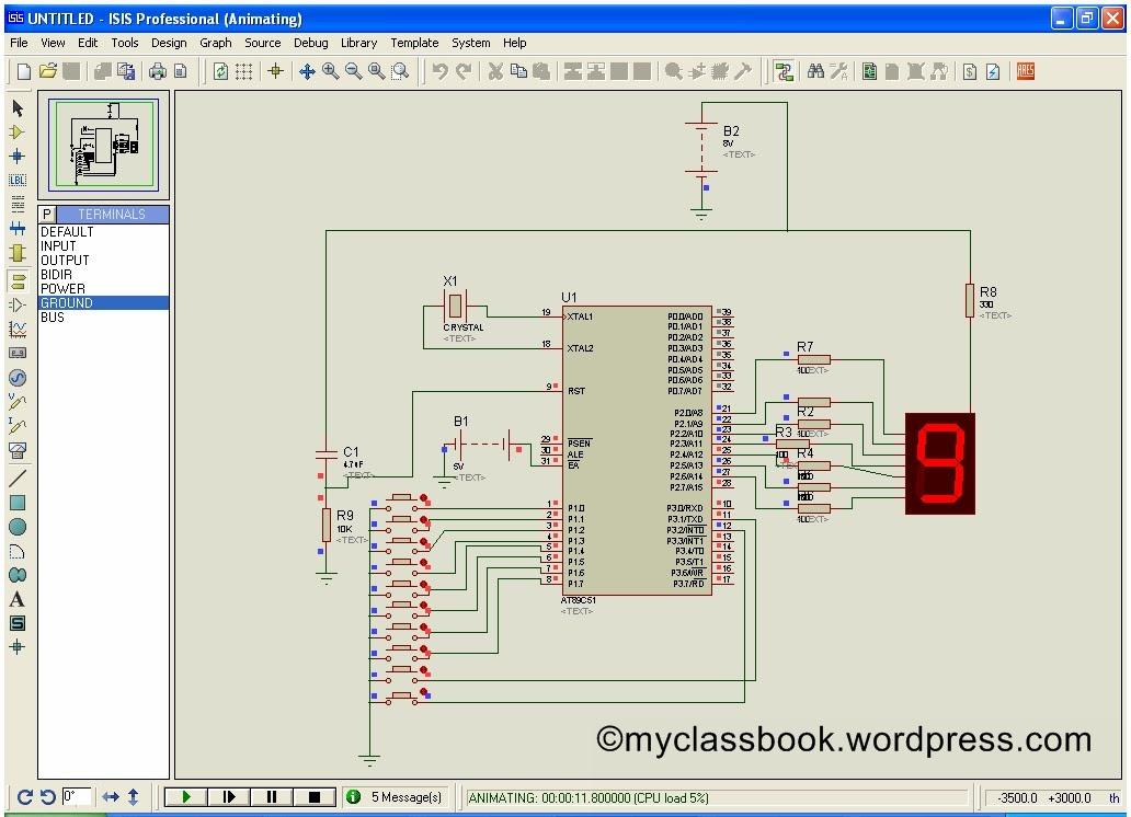 User Input Based 7 Segment Display: Circuit diagram