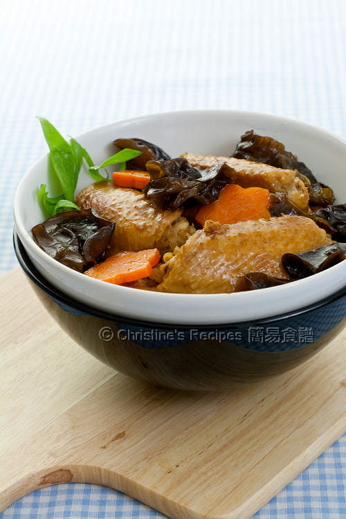 Braised Chicken Wings with Black Fungus01