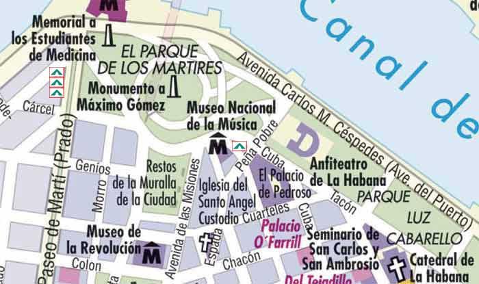 HabVieja - Mapa zone 1