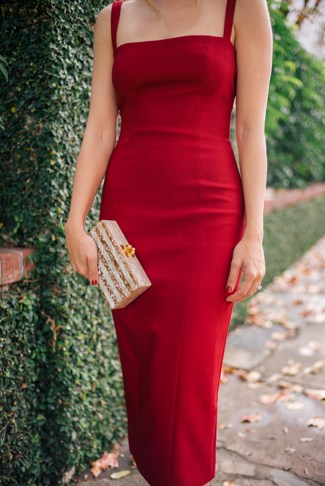 the red dress  gal meets glam