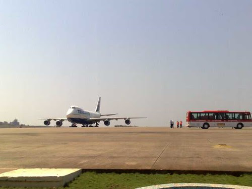 The Goa Airport Tarmac (by Ms. Jen)