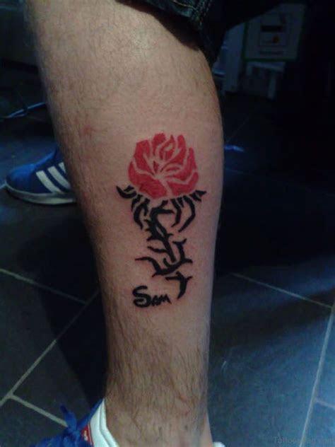 elegant flowers tattoos leg