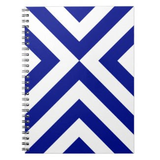 Blue and White Chevrons Spiral Note Books