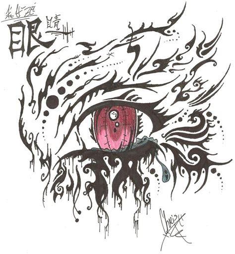 anime drawings tribal crying anime eye