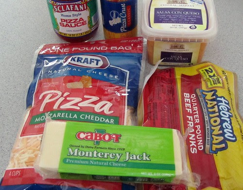 Cheesy Blasters, Ingredients