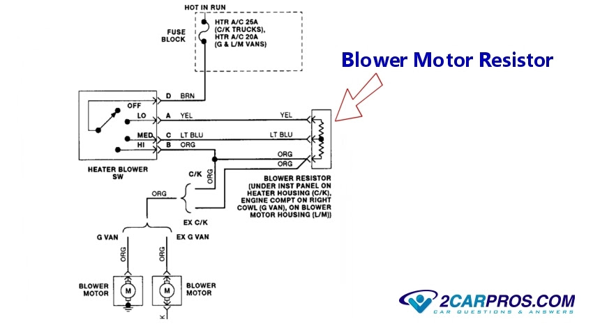 Car Ac Blower Wiring Diagram