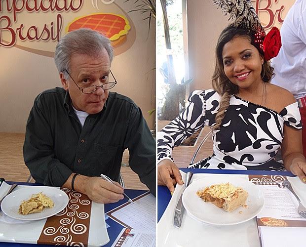 Chico Pinheiro e Gaby Amarantos vão ajudar a escolher 'O melhor empadão do Brasil' (Foto: Mais Você / TV Globo)