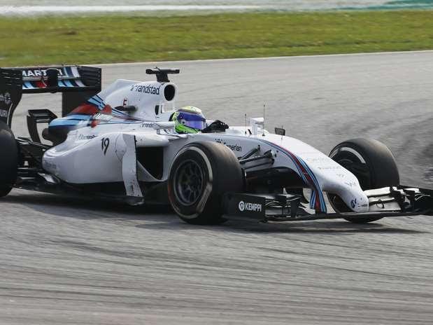 Massa foi avisado que Bottas estava mais rápido, mas não cedeu posição Foto: Reuters