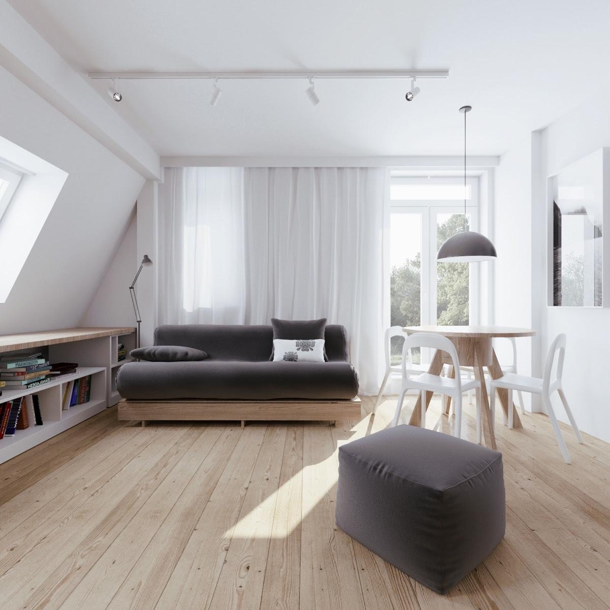 Minimalist Apartment Design With Soft Color Scheme ...
