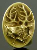 http://www.jewelryexpert.com/catalog/Dramatic elk crashing through wall cufflinks. (J9106)