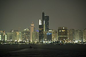 Abu Dhabi's skyline from Marina Mall