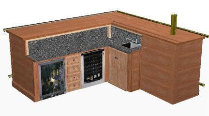 L Shaped Home Bar Plans