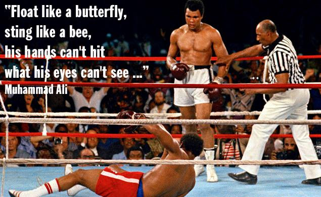 Float Like A Butterfly Sting Like A Bee Remembering Muhammad