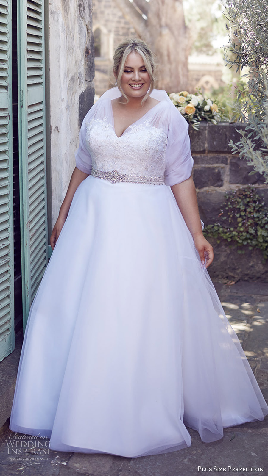 "plus size perfection wedding dresses — ""it's a love story"