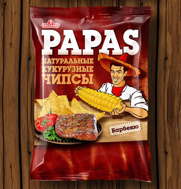 Tortilla Chips Papas packaging design 2 30+ Crispy Potato Chips Packaging Design Ideas