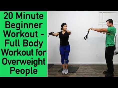 beginner resistance band workout workout  overweight