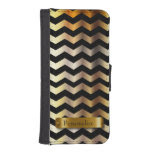 Black and Gold Chevron | Personalize iPhone 5 Wallet