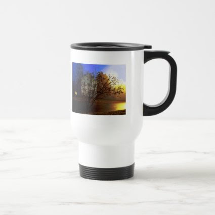 Tree House – Gold and Blue Glory Coffee Mugs