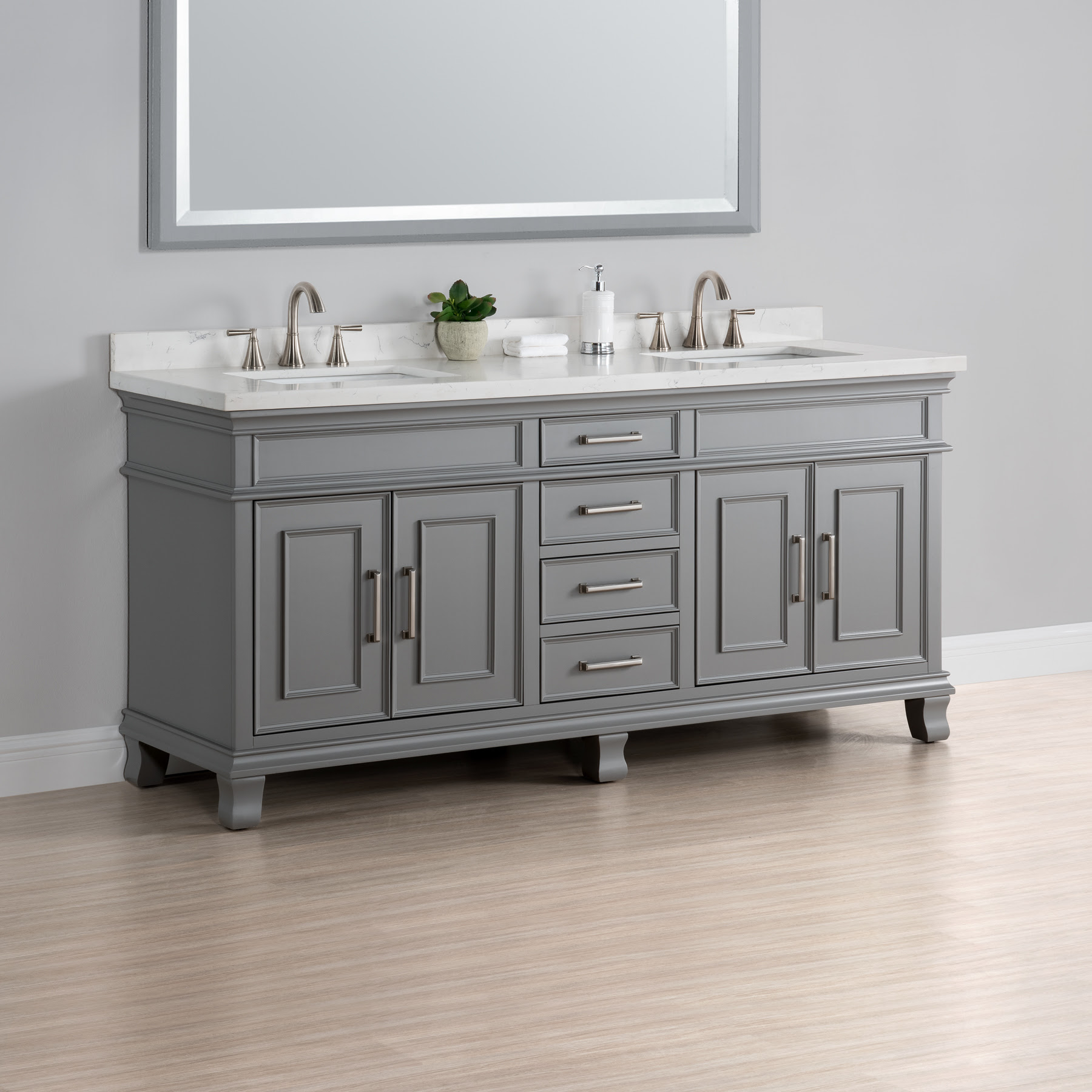 Charleston 72 Double Sink Vanity Mission Hills Furniture