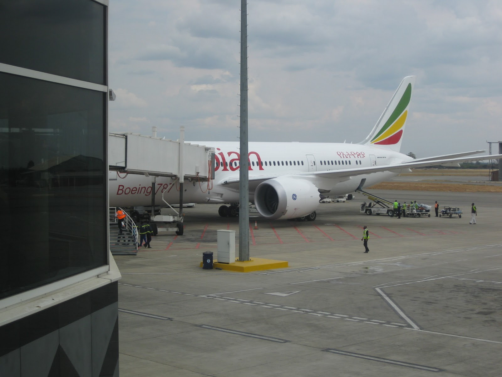 Ethiopian's 787 left GEnx engine