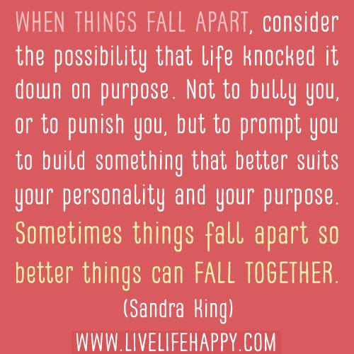 Quotes About Things Falling 73 Quotes