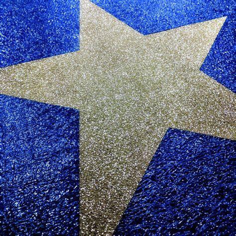 Diamond Blue Event Carpet with Custom Diamond Silver Star