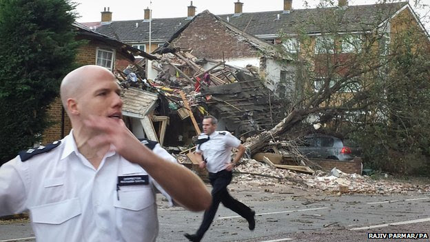 Police at scene of suspected gas explosion in Hounslow, west London