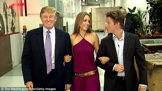 During a 2005 appearance on Access Hollywood, Trump boasted to co-host Billy Bush (right) he could 'grab women by the p****'