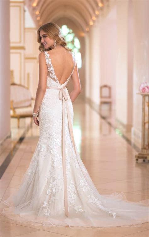 Low Back Fit and Flare Wedding Dress   Stella York Wedding