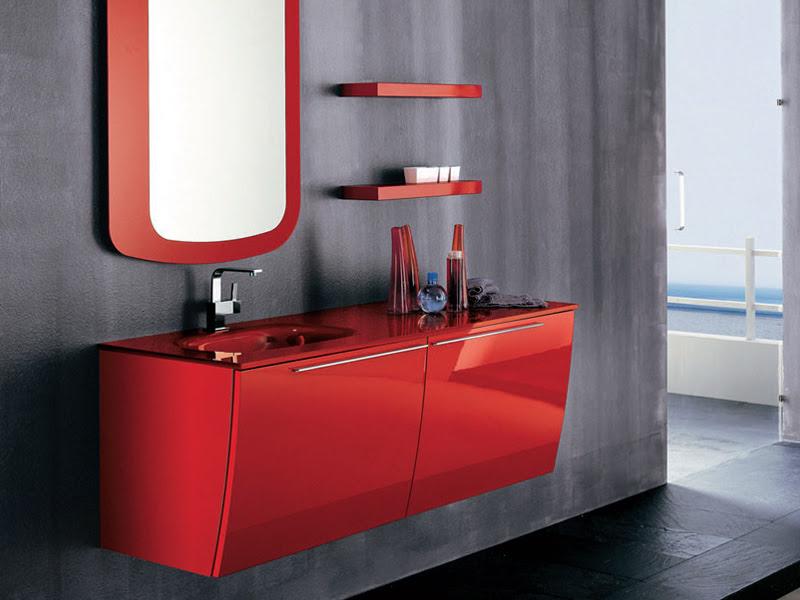 Modern Red Bathroom Furniture ~ Home Decorating Ideas ...