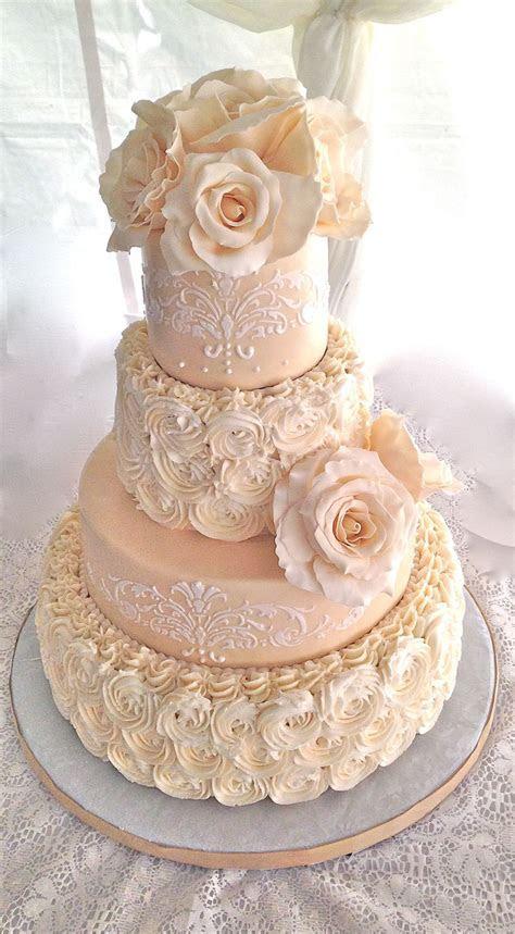 textured buttercream wedding cake   Google Search
