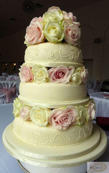 3 Tier Ivory Wedding Cake for Margam Orangery   La Creme