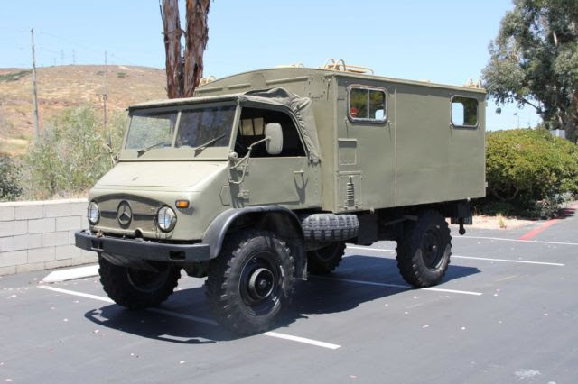 1969 Mercedes Unimog 404 with Full Communications Camper ...