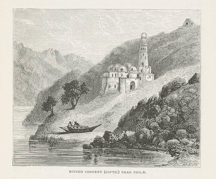 File:Ruined Convent (Coptic) near Philæ (1890) - TIMEA.jpg