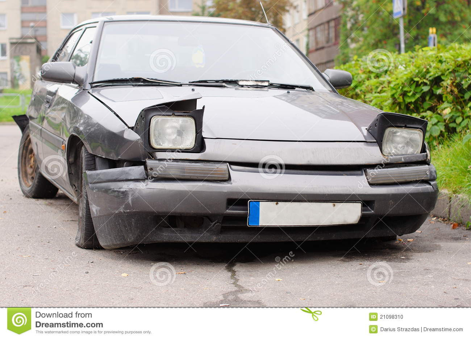 Broken Car Front Stock Photo Image Of Hood Transport 21098310