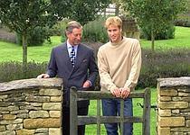 Charles et William dans le jardin du manoir en 2000.