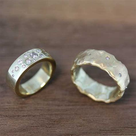 Wedding bands from recycled gold, Sussex, Kent, UK